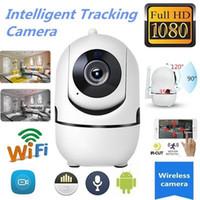 Беспроводная Smart IP Wi-Fi HD 1080P ИК-среза Автоматическое слежение PTZ двусторонняя поддержка аудио камеры 64G TF карта