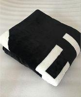 CALIENTE Marca tiro negro de franela manta polar 2size- 130x150cm, 150x200cm con el logotipo del estilo bolsa de polvo C para viajes, hogar, oficina manta siesta