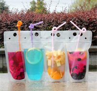 100pcs Clear Drink Pouches Bags frosted Zipper Stand- up Plas...