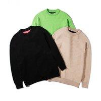 Мужская мода Известные мужские свитера высокого качества вскользь круглый с длинным рукавом Свитера Мужчины Женщины Письмо печати толстовки 3 цвета