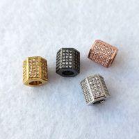 Geométricas da forma do zircão CZ Beads para Pulseira Pulseiras Jóias Fazendo encantos Spacer Beads DIY Acessórios CT540