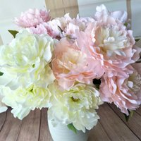 Hot sale simulation 46cm 18in Peony flower flower 5 flower 1...