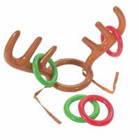 Gonfiabile in PVC Natale corna di renna Cappello Anello Toss gioco divertente favori di partito di natale di Natale Decorazione bambini Giocattoli