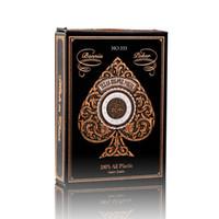 Su geçirmez Poker Altın Arka Mat Yüzey Altın Plastik Oynama Kartları Texas Holdem Poker Kartları Casino Altın Çalma Kartlar Kenarları