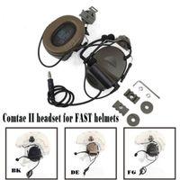 Comtac II гарнитура с Peltor шлем Rail адаптер набор для быстрых шлемов Mi litary страйкбол тактический C2 наушники Z031