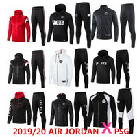 2019/20 AIR Jordan X PSG felpa con cappuccio giacca Champions League Survetement 2019 2020 AIR Jordan PSG MBAPPE giacche da calcio POGBA calcio HOODI