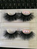 5D 25mm Mink Pieles falsas más largas de la versión extendida 25 mm Fake Eyelash 12style con paquete de papel rosa DHL gratis