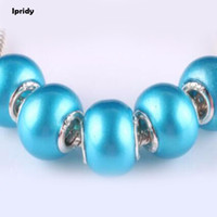 100PCS Pearl Effect Murano Glass Beads Mix Color Large Hole ...