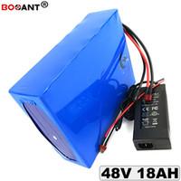 800 fois de cycles 48V 18Ah batterie de vélo électrique 18650 13S 48V E-bike batterie au lithium pour Bafang 500W 1000W moteur + 2A chargeur