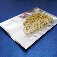 8x12 см, 200 х с открытым верхом Алюминиевые пакеты с прозрачным покрытием, Серебристая фольга Передние прозрачные пластиковые мешочки Термосвариваемая сумка для хранения продуктов