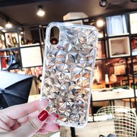 Diamond Texture Case For iPhone 6 6s 7 8 Plus X XR XS Max So...