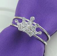 100 unids / lote Corona de plata hebilla de la servilleta de metal de múltiples capas de la servilleta anillos de servilleta para Hotel boda banquete mesa decoración SN2809