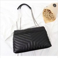 Lüks Klasik Çanta V şekli Flepler Zincir Çanta Tasarımcı çanta Yüksek Kalite Kadınlar Omuz çanta Debriyaj Bez Messenger Alışveriş Çanta 31cm