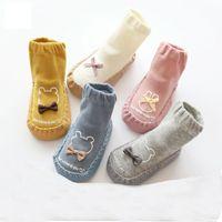 2 пары малышки пол обувает осени лета весны младенца Nonslip мягкая подошва подошва обуви крытый ходьбе Infant Первый Walker