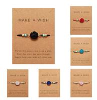 Naturstein Harz Armband Mit Karte Vintage Gewebt Frauen Mode Armreifen Armbänder Charming Täglichen Schmuck Geschenke T453
