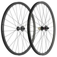 ارتفاع TG 29ER جبل الكربون العجلات 25MM العمق MTB الكربون عجلات 30mm وعرض Novatec محور AXLE THRU / QR