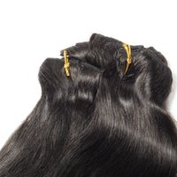 Mongoliano Negro Negro Peruano 120g Body Wave Touch Soft Sin Shedding Cutícula Alineada Remy Virgin Human Hair Extensions Clip In