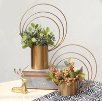 Держатель Искусственных цветов железного кольца форма цветок размер устройство 42 * 15 * 55см Цветочного стенда для свадебных украшений стола центральных