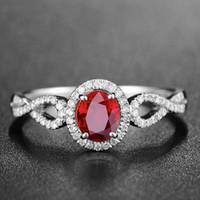 Zhen Rong New Pigeon Blood Red Farben-Edelstein-geöffneter Ring-Frauen-europäischer und amerikanischer-Stil Mosaik Eiform-Alive-Ring Zubehör