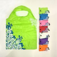 Sacs d'épicerie pliables de style chinois réutilisables respectueux de l'environnement d'épicerie sacs sacs à main durables à la maison se pliant sacs de rangement pochette Tote DBC DH1044
