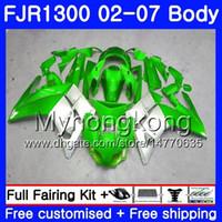 Kit For YAMAHA FJR1300A 2001 2002 2003 2004 2005 2006 2007 2AAHM.39 FJR 1300 Green silver hot FJR-1300 FJR1300 01 02 03 04 05 06 07 Fairings