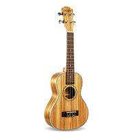 23インチコンサートシマウマウッドウクレレ4文字列ハワイアンミニギターウクアコースティックギターウクレレギターの音楽恋人ギフト