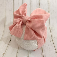Fit All Baby Large Bow Girls Corn Headband 7Inch Big Bowknot...