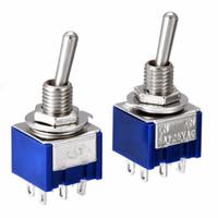 Hochwertige, Schalter freies Verschiffen MTS-202 DPDT Schalter 6A 125V AC 6-Pin ON-ON Mini Toggle 31 * 13 * 13mm Für Schaltleuchten