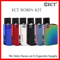 100% autentico ECT ROBIN POD DEVICE Kit 420mah Battery Pods Sistema All-in-One Kit Vape per COCO Thick Oil Ceramic Coil