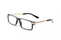 النظارات الفاخرة وصفة النظارات الرجال النظارات العلامة التجارية تصميم الأزياء إطار مربع قراءة النظارات المضادة للإشعاع النظارات مع مربع