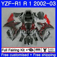 Bodys Red Flames stock Für YAMAHA YZF R 1 YZF 1000 YZF-1000 YZFR1 02 03 Karosserie 237HM.5 YZF R1 02 YZF1000 YZF-R1 2002 2003 Verkleidungsrahmen