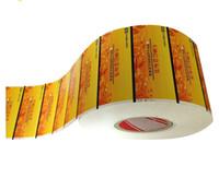 Tam renkli parlak özel şeffaf etiket etiket, vinil hologram etiket baskı toptan