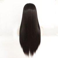 Venta caliente recta larga sintética del frente del cordón pelucas Centro de despedida 14 '' - 26 '' puede ser el envío colorante libre pelucas de pelo