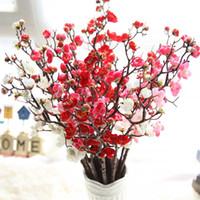 Flor artificial Cherry Spring Plum Peach Blossom Sucursal 60 cm Flor de seda Brote de árboles para decoraciones de boda fiesta