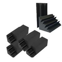 Новый 8 упаковок из 4,6 в х 4,6 в х 9,5 черная звукоизоляция изоляции бас-ловушки акустическая стенка пенопласт студия пенопластовые плитки (8p