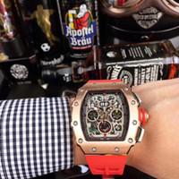 Montre de Luxe Tam Otomatik Hareketi İzle RM50-03 Aydınlık Dial Pointer 40x50x16mm Derin Su Geçirmez Paslanmaz Çelik Kılıf Watch2020