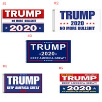 Trump Flag 2020 Keep America Great Again Banner Decor Presidente USA Donald Trump Elezione No More Bullshirt Flag 3 * 5 piedi 90 * 150cm 50 pezzi