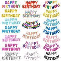 16 inç Harfler MUTLU DOĞUM GÜNÜ Folyo Balonlar Mutlu Doğum Günü Partisi Dekorasyon Çocuklar Alfabe Hava Balonları Bebek D ...