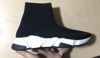 Tasarımcı ayakkabı mens fasion Hız elastik Örgü çorap etkisi ayak bileği boot erkekler kadınlar için şok şok emici sneakers boyutu 35-46