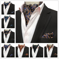 Men' s Formal Scarf Set Wedding Party Neckerchief Sets w...