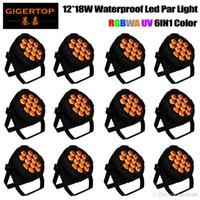 TIPTOP Ücretsiz Kargo 12pcs / lot Açık Led Par 12X12W RGBWA UV 6in1 LED Sahne Aydınlatma
