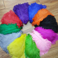 10- 12 inch 25- 30cm multi color beautiful ostrich feathers fo...