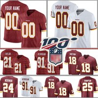 Washington Custom Redskin jersey 91 Ryan Kerrigan 25 Chris Thompson 24 Josh Norman 18 Josh Doctson 53 Zach Brown 95 Payne formaları