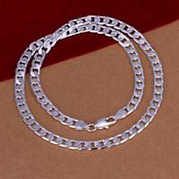 8 мм ширина квиты колье из ожерелья толстые цепи ожерелье для Hain Curb цепочка ювелирных изделий фигеро стиль 925 посеребренное ожерелье нового Kasanier