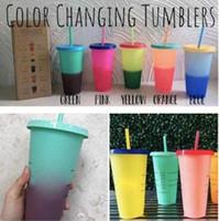 Renk Değiştirme Su Bardağı Sıcaklık Duyarlı Plastik Şişe Reklam Yalıtımlı Bardak Isı Koruması Taşınabilir Ucuz Sihirli Su B