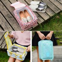 متعددة الوظائف السفر طوي الأحذية حقيبة أدوات الزينة حقيبة منظم المنزل الغبار للماء المطبوعة الأحذية حقيبة للتخزين BH1654 tqq
