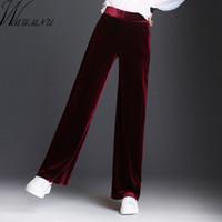 Pantalons Femmes Capris Wmwmnu 2021 Femmes Velvet Longue automne hiver Casual Habeau chaleureux à la jambe élastique taille plus taille 8XL Pantalon de bureau