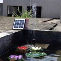 Pompe à eau solaire 12V 5W Fontaine solaire à flotteur solaire pour piscine avec pompe à eau de jardin