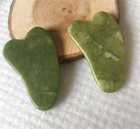 Guasha Gua Sha Schönheit Gesundheit Natürliche Jade Kratzbrett Gesichtsmassagegerät Drucktherapie Schaber Gesundheitswesen Schönheit Massage Werkzeug für Gesicht