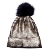 Unisex Winter Warm Cuffed Ribbed Knitted Hat Vertical Stripe...